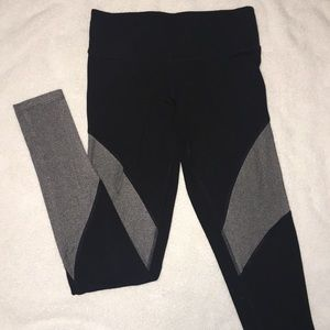 Pink ultimate black and grey mesh leggings